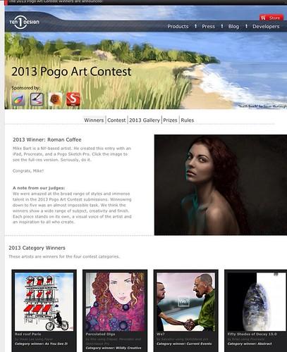 Screen shot of 2013 pogo art contest
