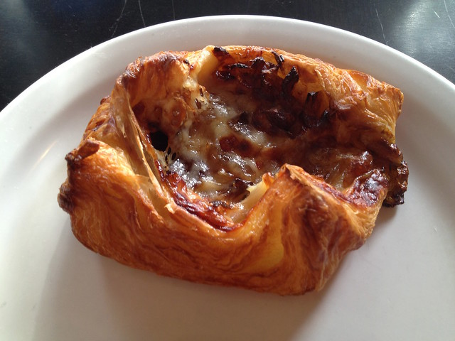Onion and gruyere pastry - Cafe Besalu