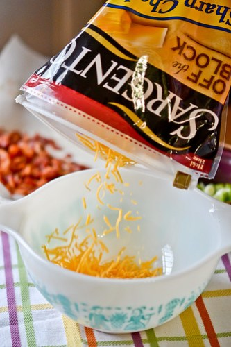 Bacon-Cheddar Corn Pudding-5