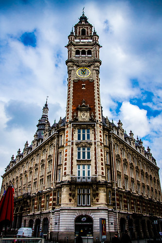 Lille clocktower, Chamber of Commerce, Post Office,