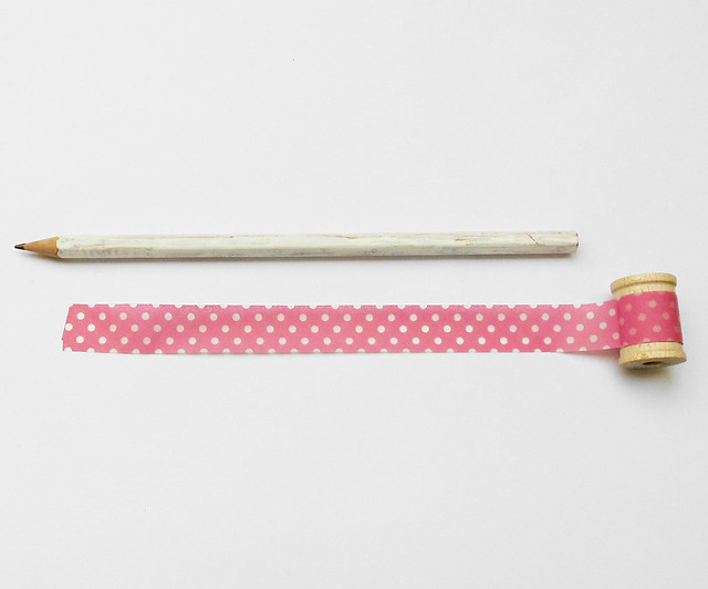Washi tape pencil 02