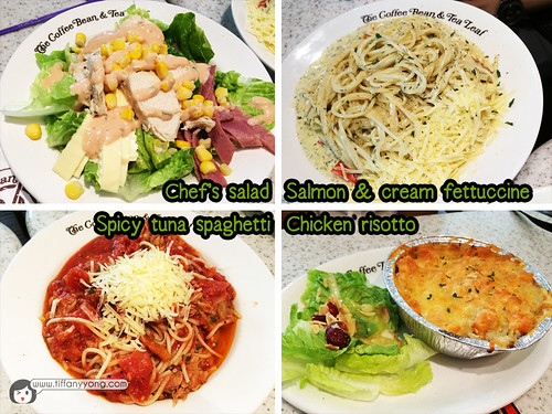 The Coffee Bean and Tea Leaf Lunch Menu