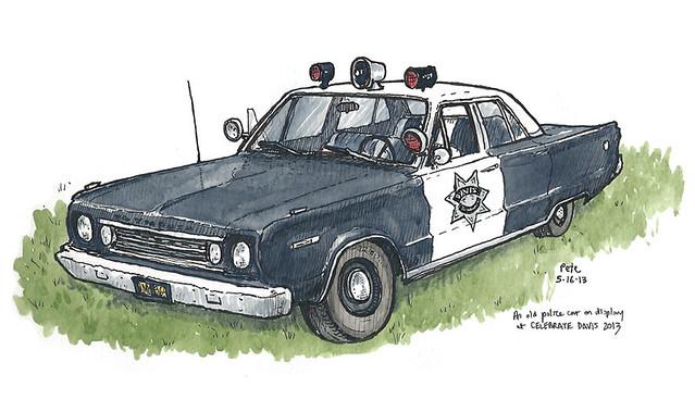 celebrate davis 2013: old police car