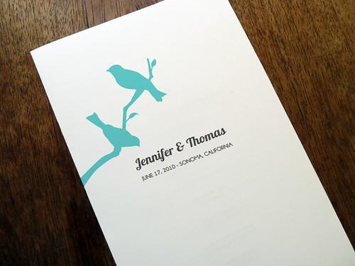 Wedding Program Template - Lovebirds