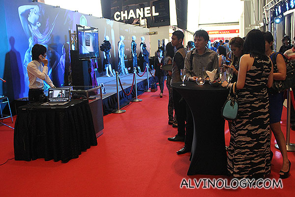 The VIP Party Bar with red carpet