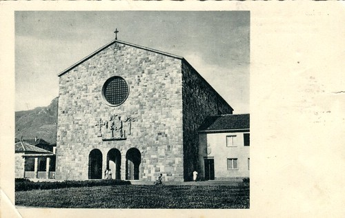 postcard - bolzano - chiesa cristo re