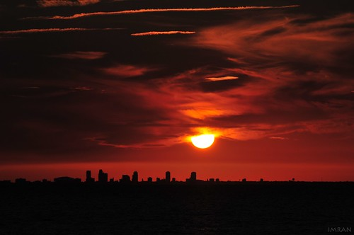 Black Clouds Smoke From Red Hot Burning Sky - IMRAN™ (SOOC) by ImranAnwar