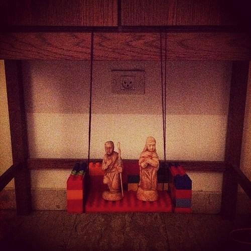 Day 17 - Mary & Joseph enjoying a leisurely swing! by nikki.j.thorpe