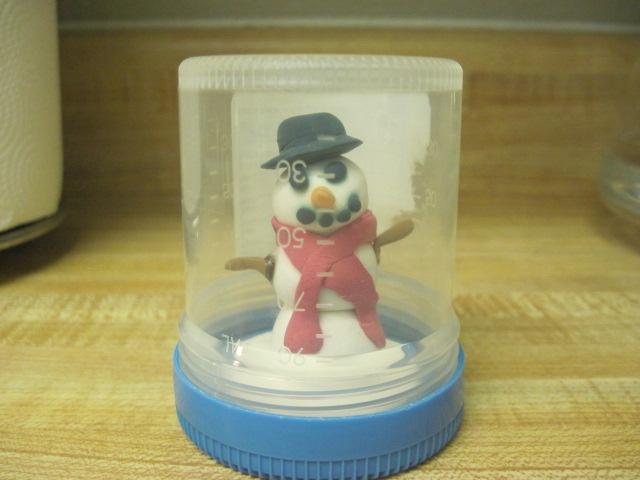 Snowglobe Specimen Cup