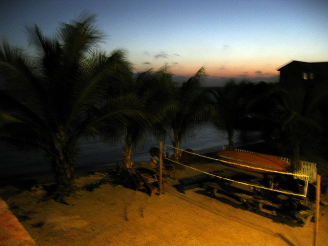 View from balcony in Utila, Honduras.