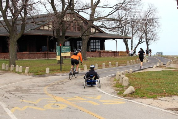 Chicago's Lakefront Trail and Lake Shore Drive
