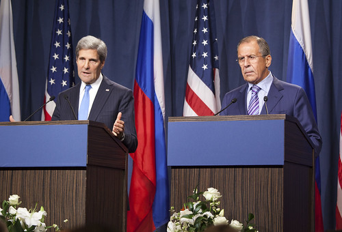 Secretary of State John Kerry and Foreign Minister Sergey Lavrov di US Mission Geneva