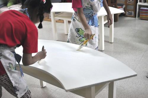 廢棄的舊桌子,翻新重新啟用(8.11ys)