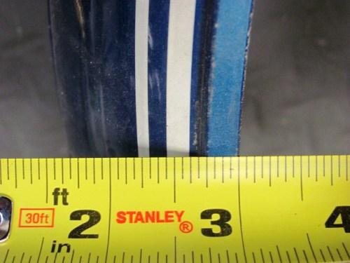 Front Fender Pinstripe Measurement