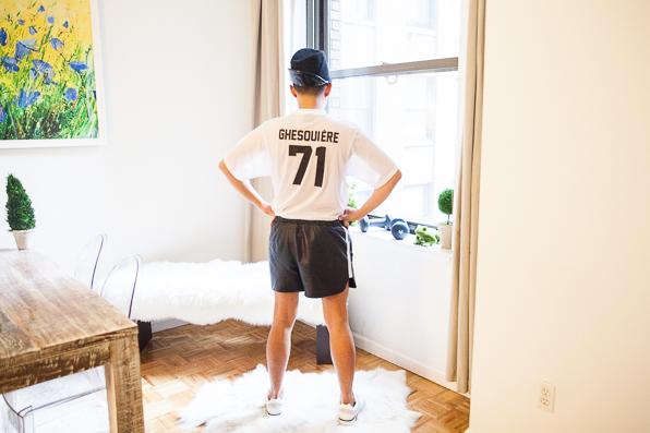 Bryanboy wearing a Nicholas Ghesquiere t-shirt