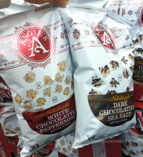 Angie's Holidrizzle White Chocolate Peppermint and Dark Chocolate Sea Salt Kettle Corn