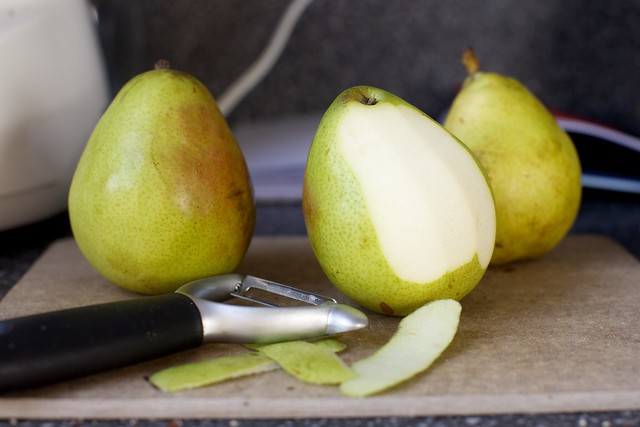 peeled pears, but no need for you to