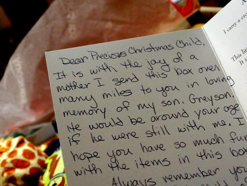 113/365 - Christmas Child Letter