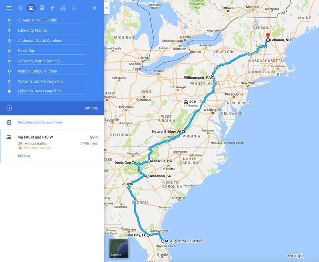 2017 Road Trip Plan