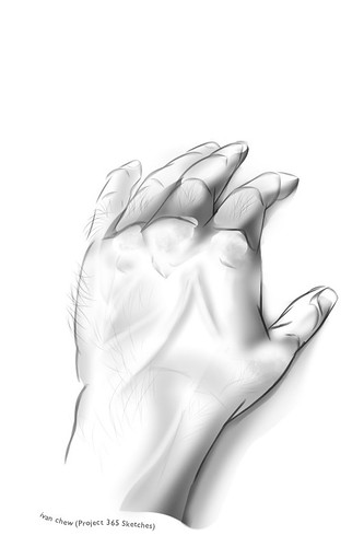 """""""Left Hand 2013"""" (#138: Project 365 Sketches)"""