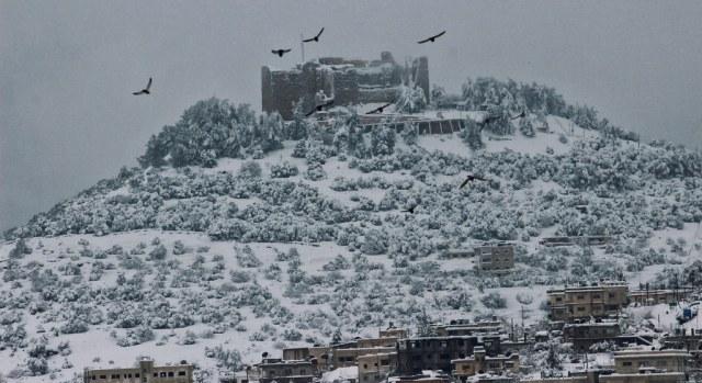 نتيجة بحث الصور عن ajloun snow