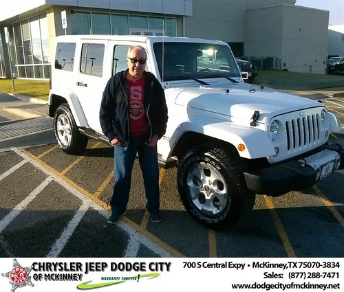 Thank you to Alex Levin on your new 2014 #Jeep #Wrangler Unlimited from David Walls and everyone at Dodge City of McKinney! #NewCarSmell by Dodge City McKinney Texas