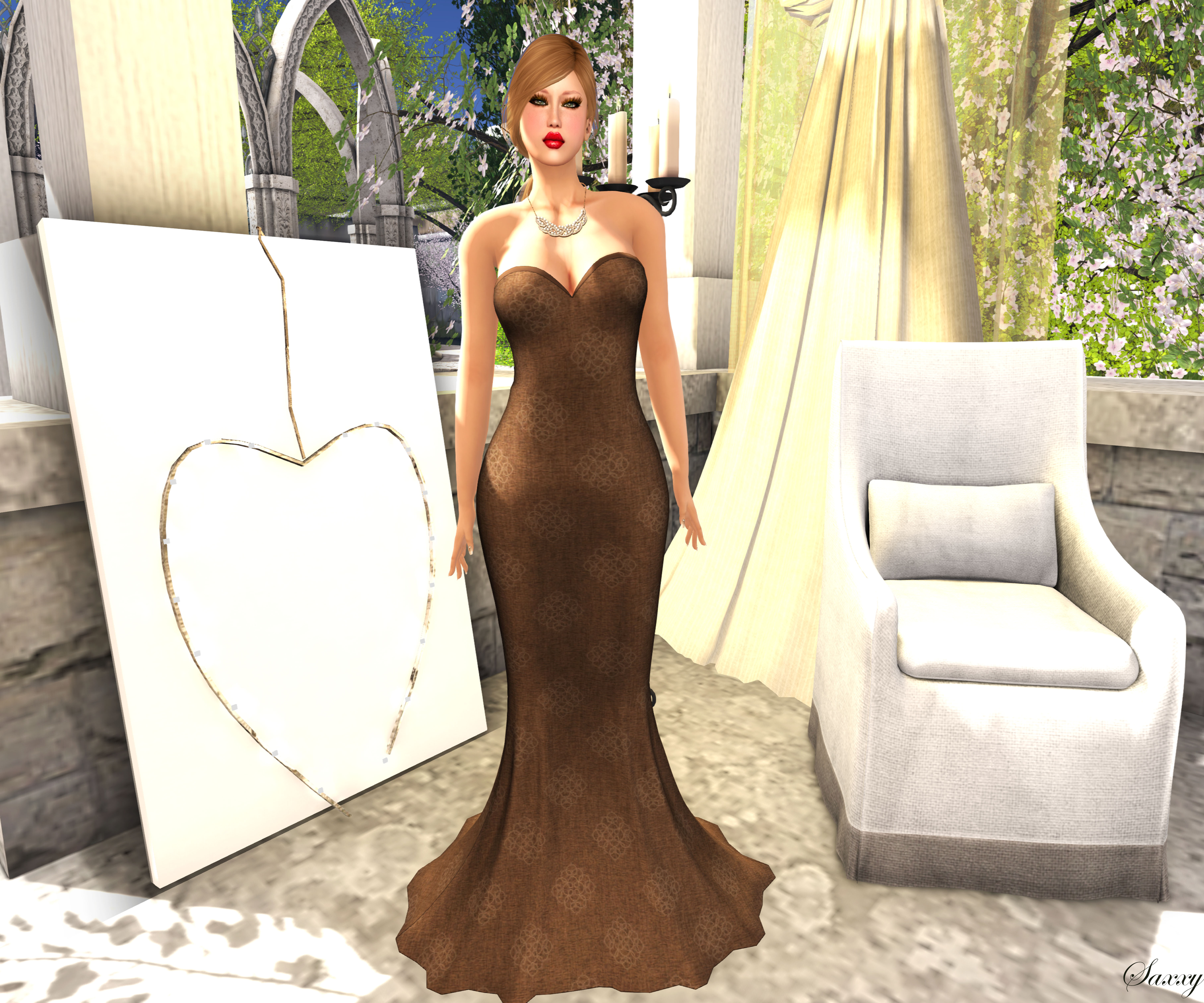 Icon Dress in Brown_001