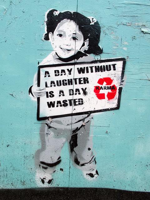 Karma - Stencil - Street Art Amsterdam