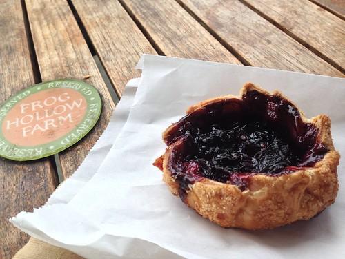 Cherry tart at Frog Hollow Farm in San Francisco