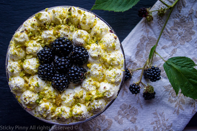 Blackberry and Elderflower Trifle 2