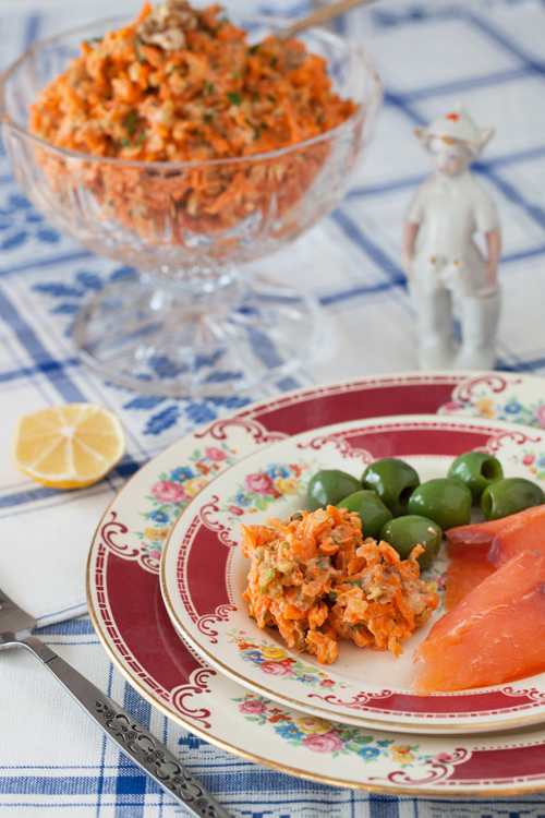 Carrot Salad with Walnuts Garlic 2