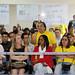 Irene Rodrigues, coordenadora do Sindicato dos Servidores Públicos Municipais (Sismuc), foi uma das representantes dos servidores que cobrou o cumprimento de itens negociados em 2013. (Foto – Anderson Tozato/CMC)