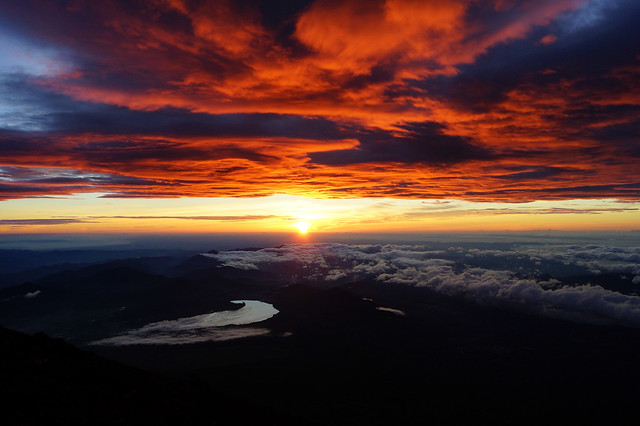 Espectacular Sunrise in Fuji-san
