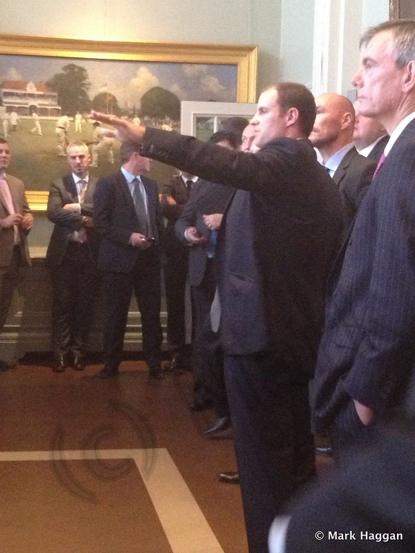 Andrew Strauss in The Long Room at Lord's