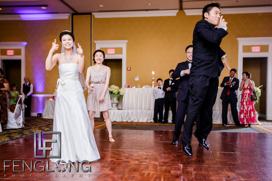 Chinese bride and groom at their Atlanta wedding reception