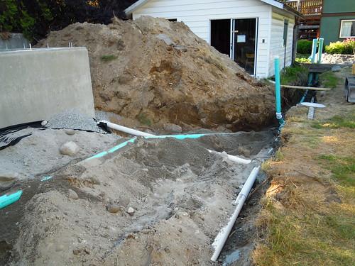 July 22 - backyard drainage