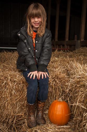 Ellie in the Hay Maze