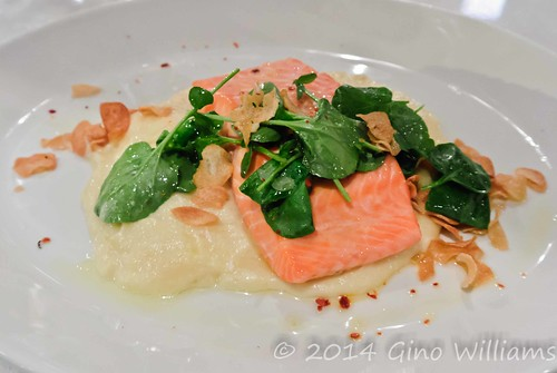 Cold Smoked Trout with Garlic Mashed Potatoes
