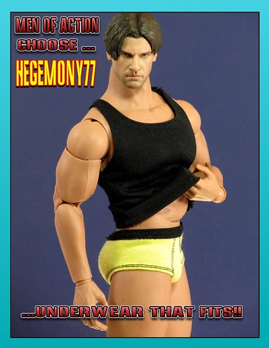 MEN OF ACTION CHOOSE HEGEMONY77 FOR UNDERWEAR THAT FITS! by valleyofthedolls