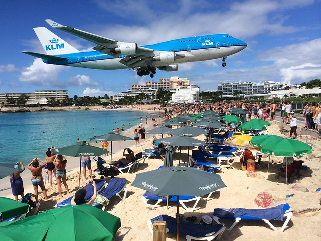 Iphone Wallpaper Hd Sports 747 Landing Over Maho Beach Personal Photo From Bj