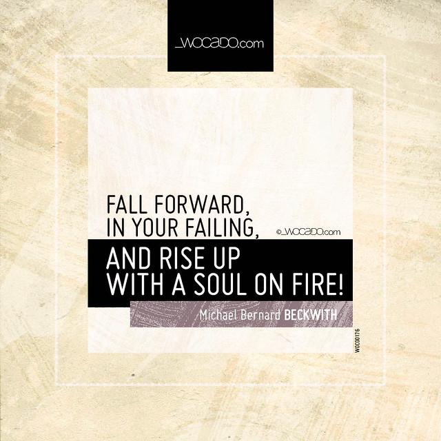 Fall forward, in your failing by WOCADO.com