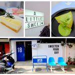 又是個適合在IG上打卡的可愛咖啡店~〈有點甜cafe_A Littlesweet〉有著候車椅+藍色大門好好拍~也是老宅改建的甜點店呦!!!