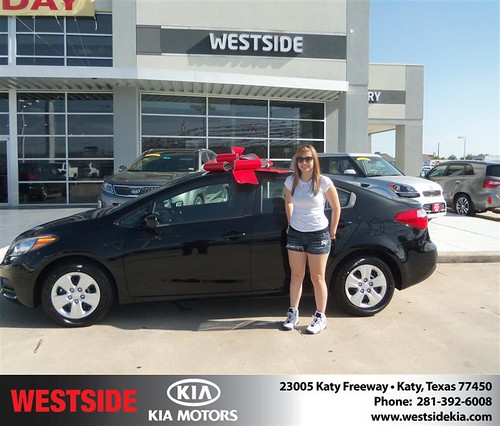 Thank you to Samantha Messina on the 2014 Kia Forte from Wilfredo Suliveras and everyone at Westside Kia! by Westside KIA