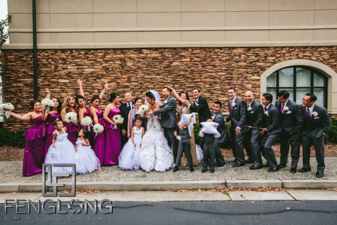Vietnamese wedding group wedding photo