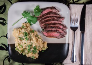 Thai Grilled Skirt Steak & Coconut Risotto