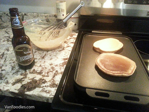 Making pancakes with Vancouver Island Hermannator