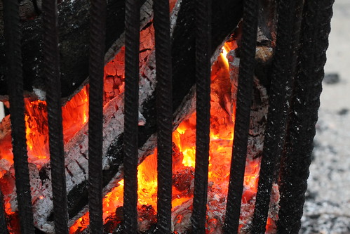Fire behind bars