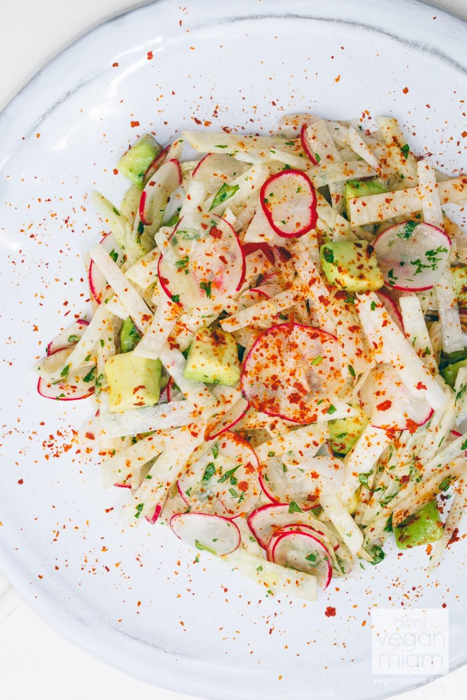 Jicama, Avocado and Radish Salad with Lime Vinaigrette