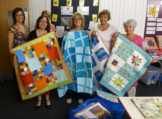 Bee Blessed Baby Quilts Handover June13 004