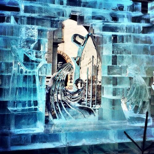 Ice nativity by SpatzMe